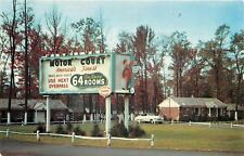 Totowa New Jersey~Stratford Motor Court~1950s Car~Roadside Motel