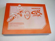 Honda Werkstatthandbuch CR250R 99 Fahrer-Wartungshandbuch