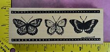 BUTTERFLY BORDER Northwoods N7288 Jean Arneson rubber stamp #2424