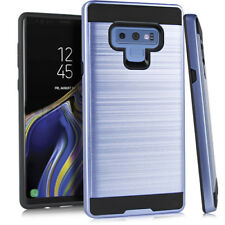 For Samsung Galaxy Note 9 - Brushed Metallic Armor Shock Proof Hybrid Cover Case