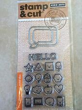 Hero Arts Stamp and Cut Everything Smiles Stamp with Matching Die Cut Set DC194