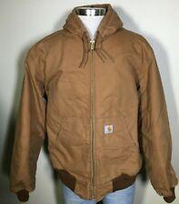 Carhartt Extremes Brown 100% Nylon Zip Hooded Winter Coat Work Jacket Men's XL
