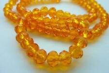 100 pce Orange Faceted Crystal Cut Abacus Glass Beads 6mm x 4mm Jewellery Making