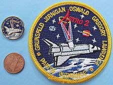 "NASA 3"" PATCH & PIN PAIR vtg Space Shuttle ENDEAVOUR STS-67 Astro 2 Oswald"
