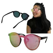 Gafas De Sol Mujer Rosa Negro Sin Montura Pasta Vintage Moda Fashion Elegante 10