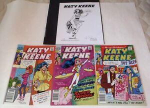 Katy Keene #21 #27 #29 Archie Romance Series John Lucas 1980s Paper Dolls Bonus