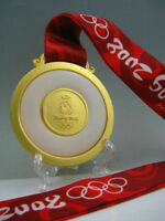2008 BeiJing Olympic Gold Medal with Ribbons & Stand 1:1**Free Shipping**