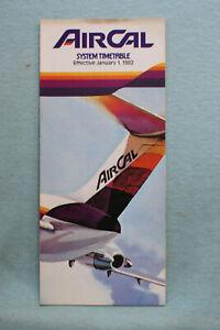 AirCal Timetable - Jan 1, 1982