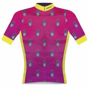 Primal Wear Pink Primeapple Men's Helix 2.0 Elite Fit Full Zip Cycling Jersey