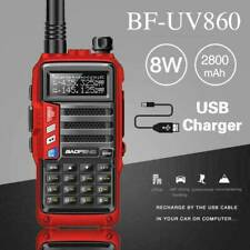 BaoFeng Uv-860 Powerful 8W Walkie Talkie Dual Band Long Range Two Way Radio Red