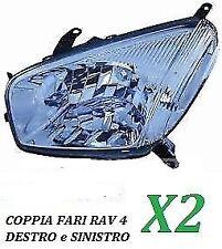 COPPIA FARI FANALE PROIETTORE ANTERIORE DX SX TOYOTA RAV 4 DAL 2000 AL 2003 H4