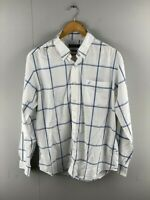 Nautica Mens White Long Sleeve Wrinkle Resistant Button Down Shirt Size Large