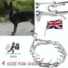 More details for 1x metal steel chain dog training prong-pinch adjustable choke spike collar pet
