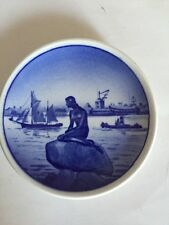 "Royal Copenhagen Mini-Plate -""Little Mermaid"" 2-2010 - Langelinie -Denmark Euc"