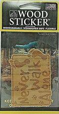 Bigfoot Never Walk Alone Wood Sticker - Made In USA -
