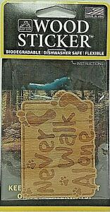 Bigfoot Never Walk Alone Wood Sticker - Made In USA -