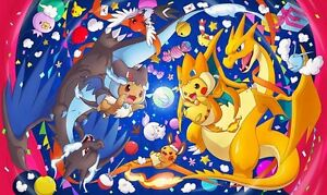 226 Pokemon Mega Pikazard PLAYMAT CUSTOM PLAY MAT ANIME PLAYMAT FREE SHIPPING