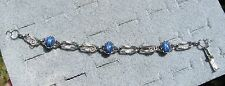 LINDE LINDY CORNFLOWER BLUE STAR SAPPHIRE CREATED BRACELET NPM SECOND QUALITY