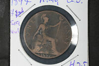 1897 Penny Great Britain - High Sea Level Variety