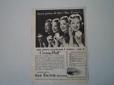 advertising Pubblicità 1956 MAX FACTOR
