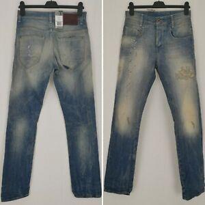 BNWT G-Star Raw GS01 New Radar Slim Jeans W30 L34 Hack Denim Aged Lightwash