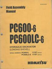 komatsu pc600 8 field assembly manual