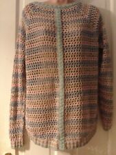 BLUE AND PINK LONG SLEEVED JUMPER BY WAREHOUSE, SIZE MEDIUM
