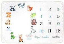 "Baby Milestone 60""x40 Thick Fleece Baby Registry Blanket Backgrounds"