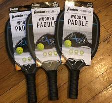 NEW Lot of 3 - Franklin Volt Wooden Pickleball Paddle with Padded Handle