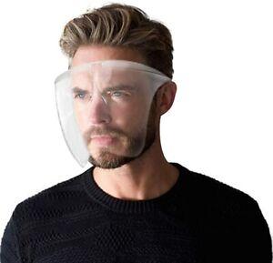 Clear Face Shield Mask Transparent Reusable Glasses Visor Anti-Fog US Full