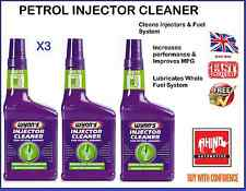 3 x WYNNS PETROL INJECTOR CLEANER ADDITIVE - REDUCES FUEL & CONSUMPTION - FAST