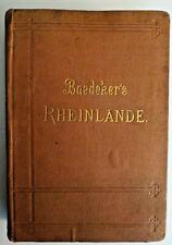 1888 Baedeker's Rheinlande.book