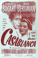 Cb02 Vintage Casablanca Movie Poster A3 impresión