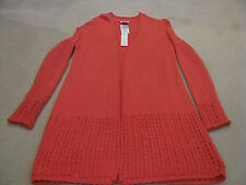 Chicos Mara Cardigan Duster Sweater Size 0 Coral Reef  NEW Retail $99