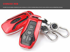 Red Samrt Key Cover Bag FOB Key Cover For Ford Mustang 2015-2016 FOB Remote Key