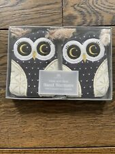 Aroma Home Click & Heat Hand Warmers 2x Reusable Heat Gel Packs Knitted Owls