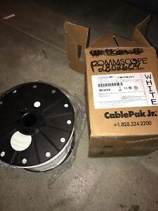 CommScope F677TSVV XpressPrep CATV Cable, 500ft Spool, 18 AWG, White