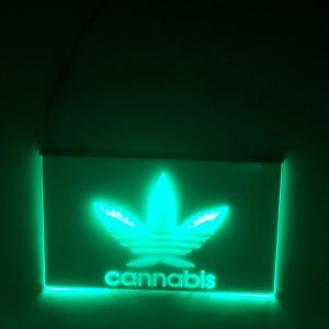 Cannabis LED Sign Weed Smoke Marijuana Light