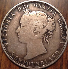 1873 NFLD NEWFOUNDLAND CANADA SILVER 50 FIFTY CENTS IN GOOD CONDITION