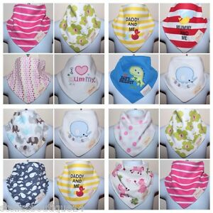 Baby Boy Bandana Bibs 3 Pack Dribble Dry Bib Neck Triangle Scarf