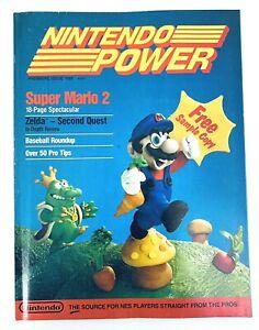 Nintendo Power Magazine Premiere Issue 1988 #1 With Zelda poster COMPLETE Mario