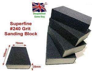 #240Grit Sanding Block Superfine Sponge Abrasive Foam Wet & Dry Bodywork