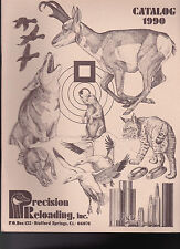 Precision Reloading Inc Catalog 1990 Stafford Springs Ct 36 pp