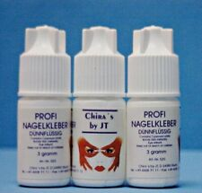 10 Nagelkleber Tipkleber 3 g Profi Kleber Kunstnägel Tips extra stark Nail Glue