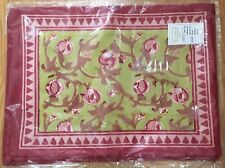 Couleur Nature Granada Red & Green Pomegranates French Table Linens Bruno Lamy