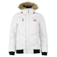 Mens Everlast Bomber White Black Jacket UK Size 16 XL