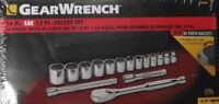 """Gearwrench 80584 Socket Set 16 pc 3/8"""" Drive 12 Point SAE 84 Tooth Ratchet"""