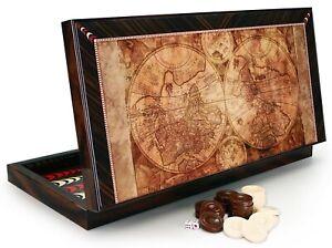 Luxus Antik Welt Backgammon Tavla XXL Gesellschaftspiele Familienspiel