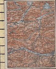 1925 GERMAN MAP ~ INNSBRUCK TELFS MITTENWALD PARTENKIRCHEN ZIRL HOTTING