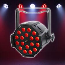LEDJ esecutore QUAD Zoom PAR 64 Nero 18 x 8 W RGBW LED Illuminazione palco teatro